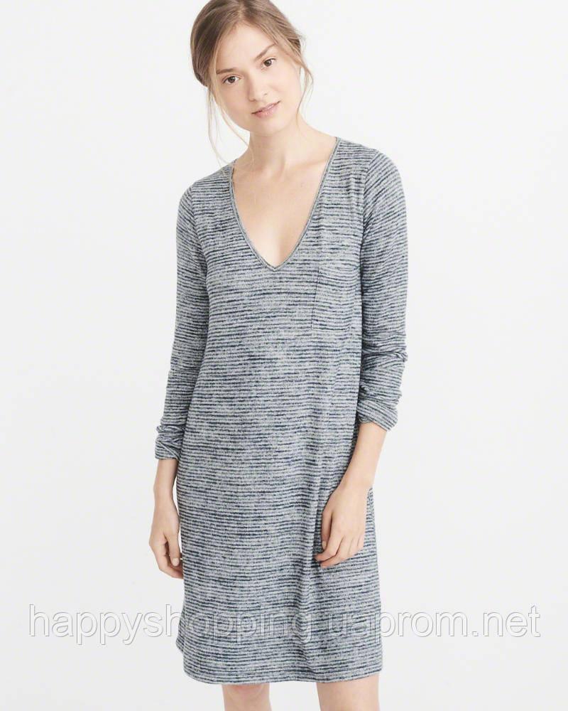 Женское серое платье в полоску Abercrombie & Fitch