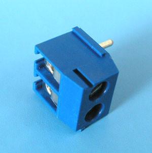 TG-935AR Клеммник 2 контакта на плату, прямой угол, 250В 16А шаг 3,5мм