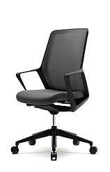 Офисное кресло на колесах Enrandnepr  FLO black серый