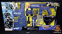 Набор полиции детский - автомат-трещетка, бронежилет, маска, биноколь аксессуары. Полицейский набор