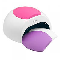 Универсальная UV LED лампа белая Sun 2 48 Вт, белая с фиолетовой , зеленой и розовой подушкой.