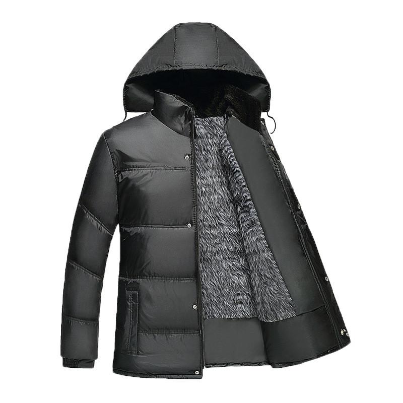 Куртка зимняя мужская, черный пуховик размер 44 (XL)  СС-6567-10