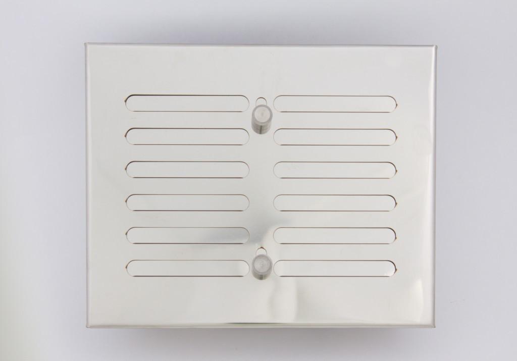 Решетка вентиляционная 15х17 нержавеющая сталь с регулировкой