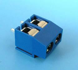 TB-208   Клеммник 2 контакта на плату, 250В 16А шаг 5,0мм синий