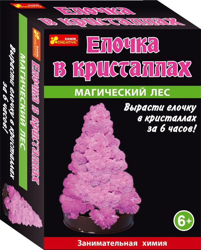 Набор для опытов Ranok 0256 Сад пушистых кристаллов. Елочка в кристаллах (розовая) (12138005Р)