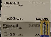 Алкалайнова батарейка АА Maxell LR6 SHRINK 40 шт.(7 грн за 1 шт./280 грн за 40 шт.)