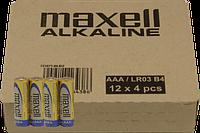 Батарейка Maxell AAA LR-03 4 шт. х блістер, 48 шт.(7,50 грн за штуку)