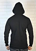 Мужская черная толстовка-кенгурушка , фото 2