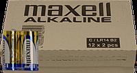 Батарейка MAXELL LR-14 размер C 2PK BLISTER,24 шт