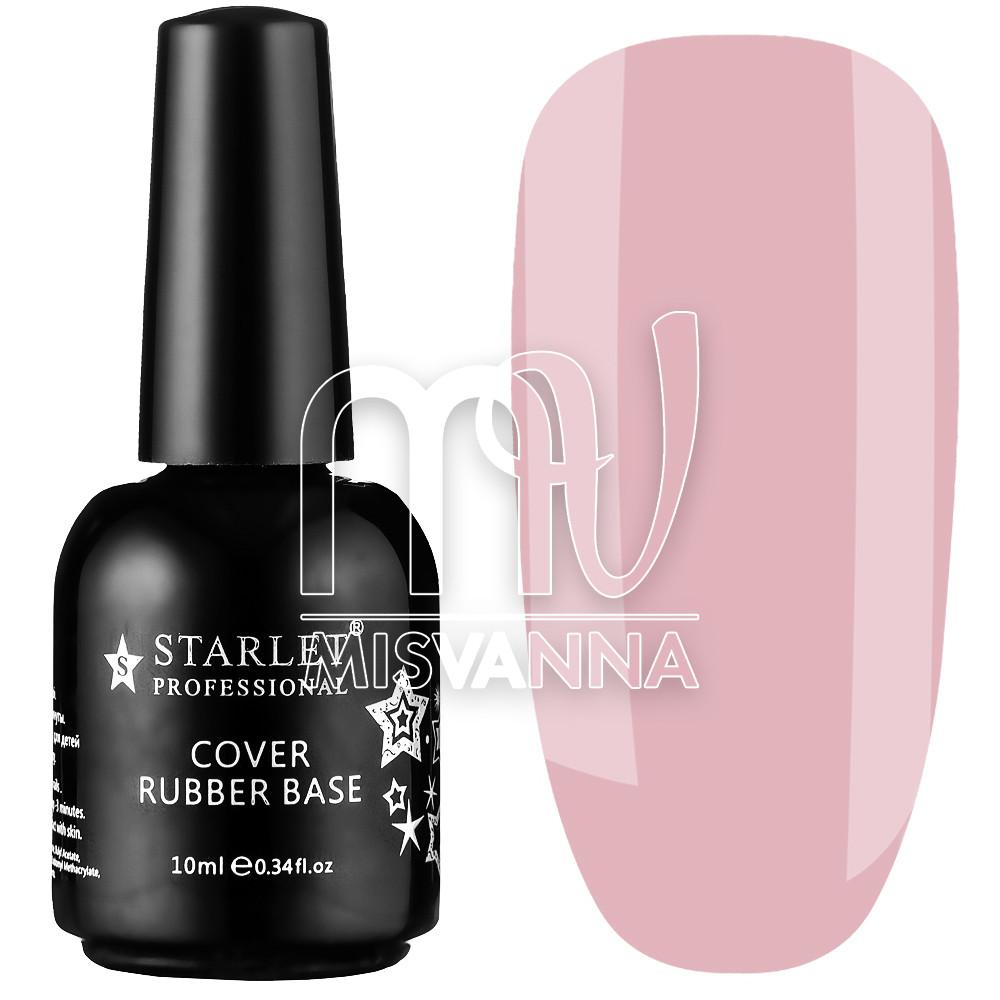 База каучуковая Cover Rubber Base Starlet Professional №010, 10 мл холодный розовый