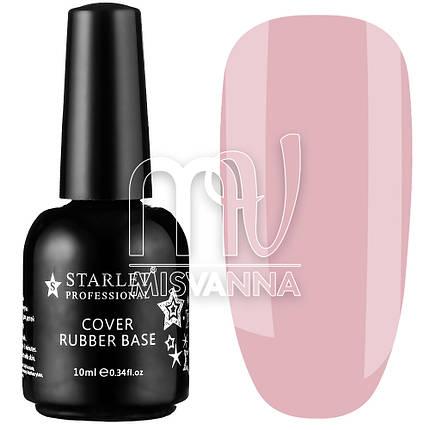База каучуковая Cover Rubber Base Starlet Professional №010, 10 мл холодный розовый, фото 2