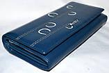 Женский кошелек Verity из натуральной кожи на кнопке 18*9 см , фото 2