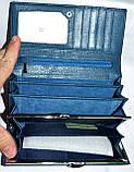 Женский кошелек Verity из натуральной кожи на кнопке 18*9 см , фото 4