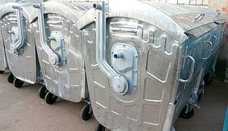 Оцинкований контейнер для сміття 1,1 м3.