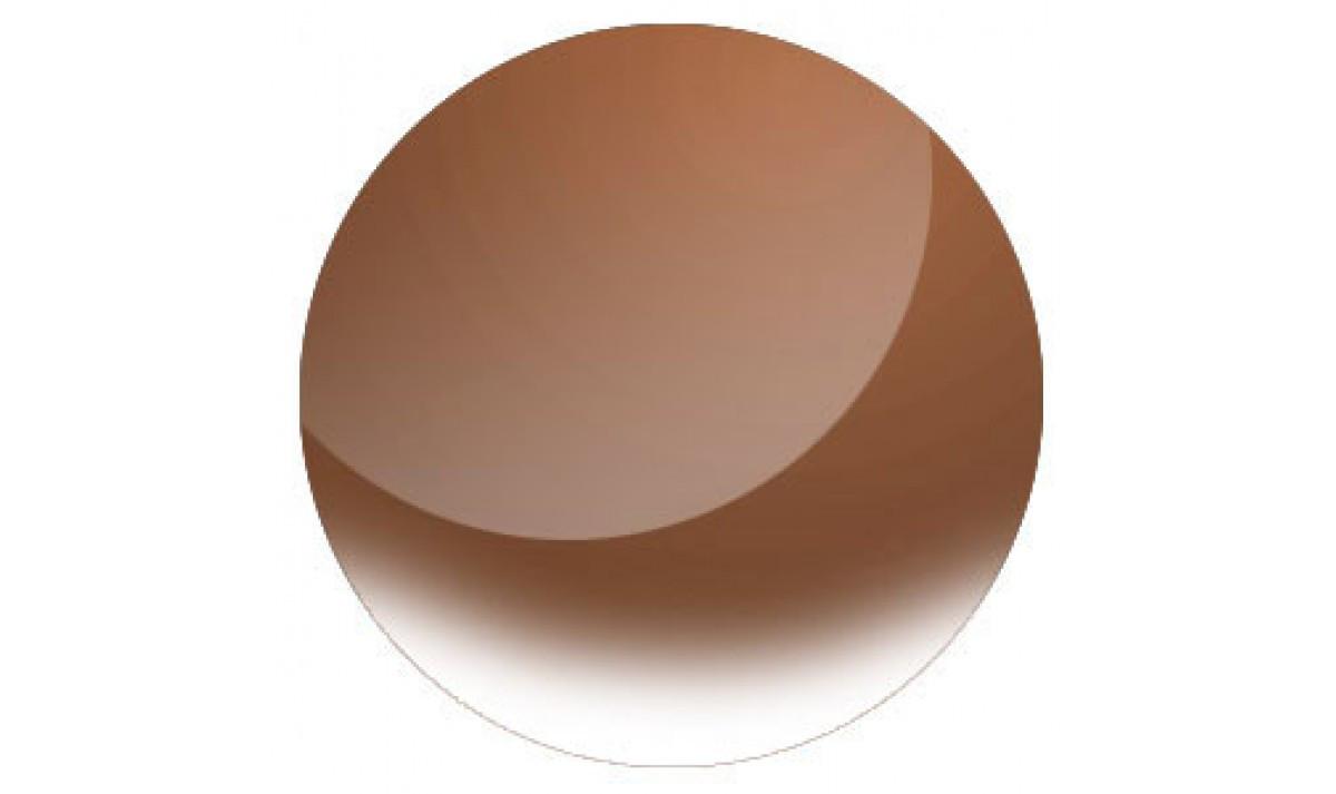 Линзы для очков полимерные  солнцезащитная  дегресия (коричн)