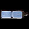 Визитница v.2.0. Fisher Gifts STANDART олива (кожа), фото 3