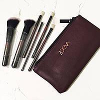 Кисті для макіяжу Zoeva Classic Queens Guard Brush Set X6 Марсала (репліка).
