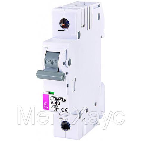 Автоматический  выключатель ETIMAT 6 1p B 40А (6 kA), фото 2