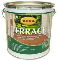 AURA TERRACE  2,7 л, коричневая - Масло для террас, на основе натуральных тунгового и льняного масел, пропитка