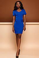 Короткое Деловое Платье с Интересным Вырезом Электрик S-XL, фото 1
