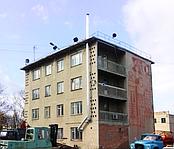 Установка системы отопления Автобаза ДОРРЕМСТРОЙ г. Харьков (Монтаж дымоходная система)