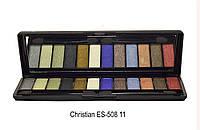 Набор теней для век Christian ES-508  № 11