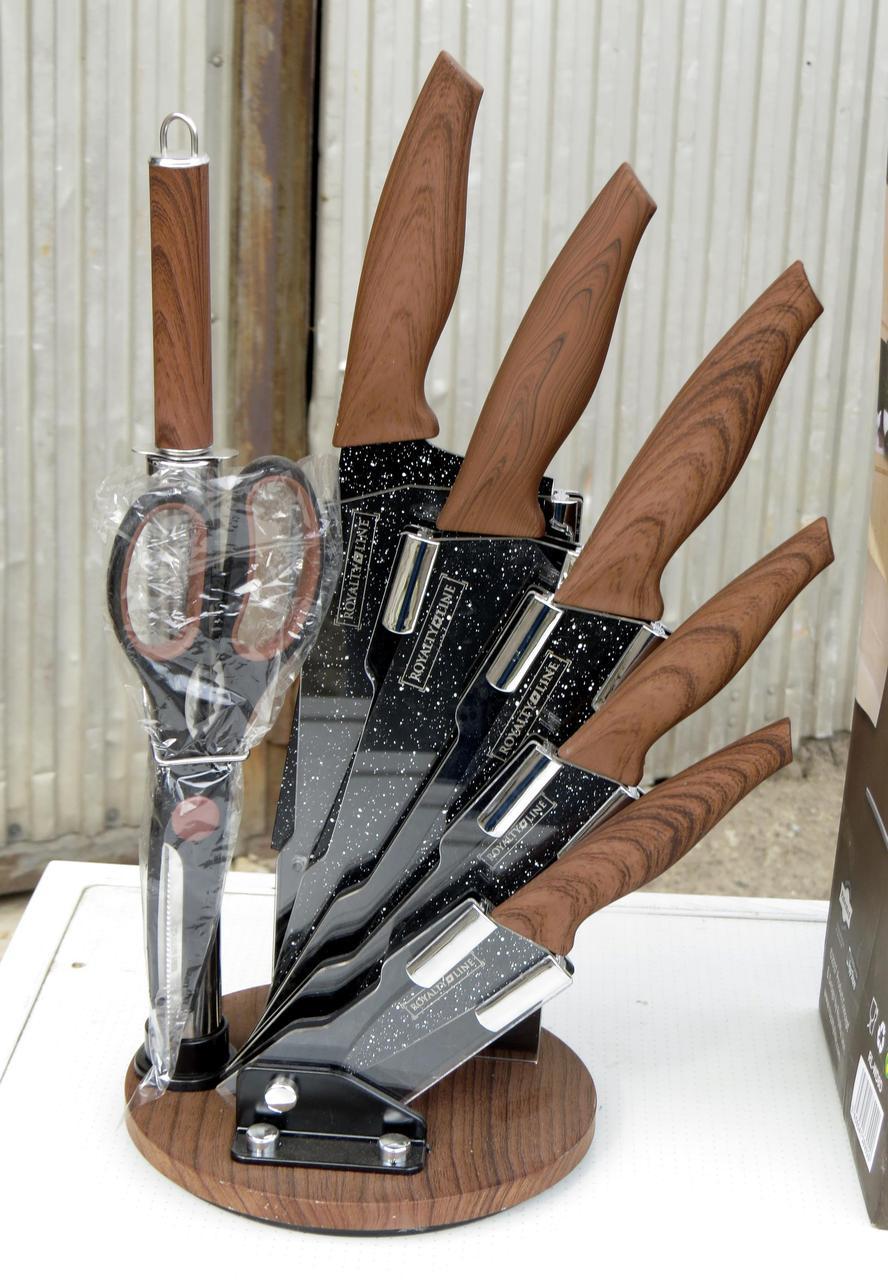 Набор Ножей 8 Единиц ROYALTY LINE RL-WD8D (Код:1480) Состояние: НОВОЕ