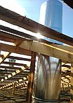 Установка вентиляционной системы г. Харьков, пр-т Гагарина (Монтаж вытяжной системы вентиляции комплекса по ремонту и обслуживанию крупногабаритного транспорта. Производительность 15000 кубов)
