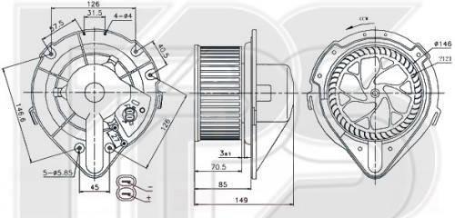Вентилятор салона Audi 80 B4, Audi A4 B5 - 8A1820021 (FPS) , фото 2