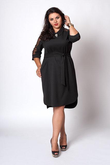 Элегантное женское платье,размеры 50,52,54 черное