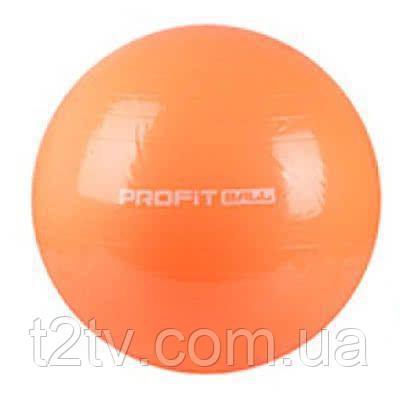 Мяч для фитнеса Фитбол Profit 75 см усиленный 0383 Orange