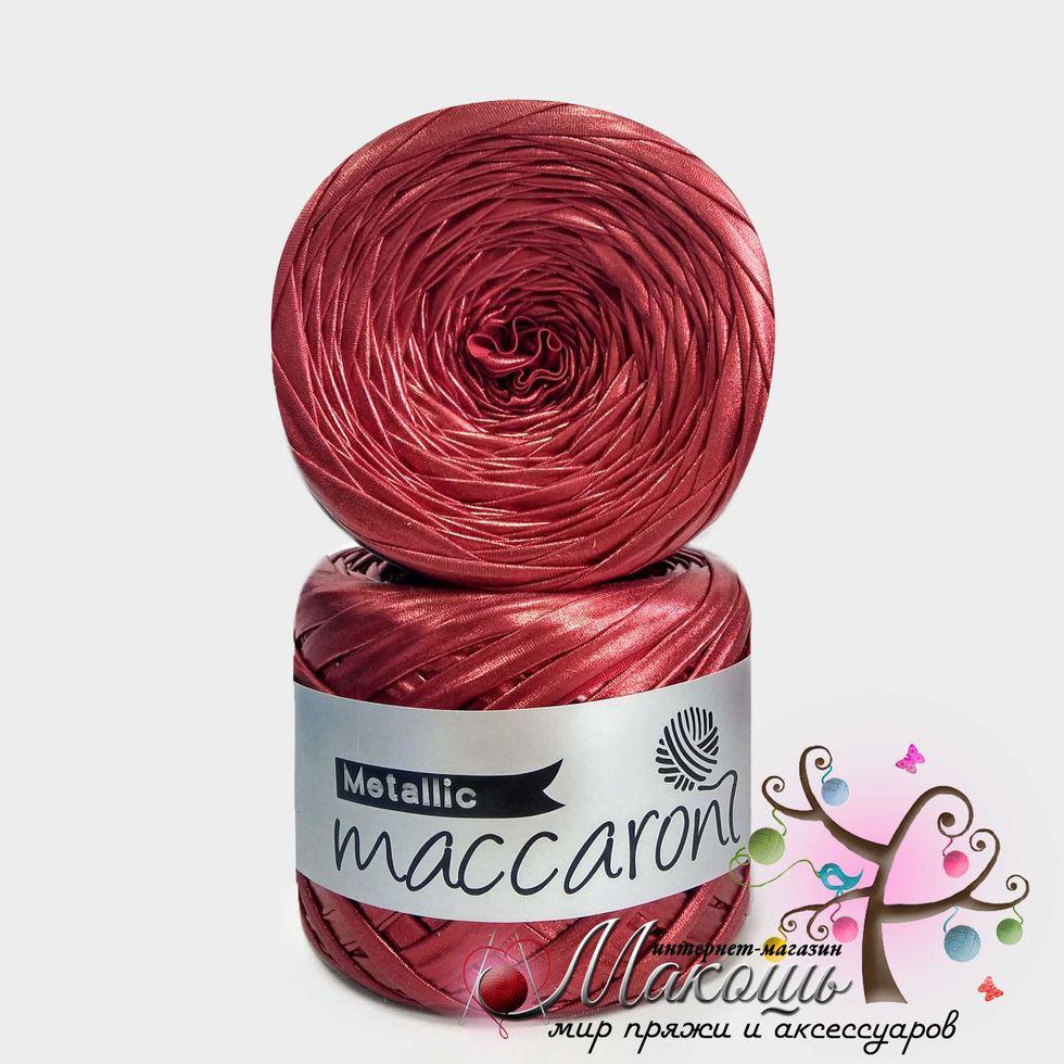Трикотажная пряжа Maccaroni Metallic, красный