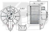 Вентилятор салона Audi A6 C5 - 4B1820021B (FPS)