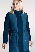 """Женское стильное пальто """"Комби"""", 48 - 62 рр, серый, фото 2"""