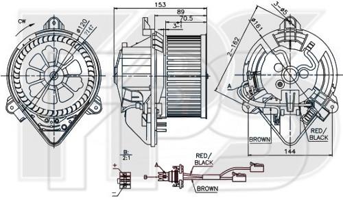 Вентилятор салона Citroen Berlingo, Peugeot Partner - 6441L3 (FPS)