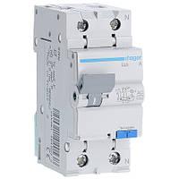 Дифференциальный автомат Hager 4,5kA тип АС  х-ка C 2P 20А 30mA (AD870J)