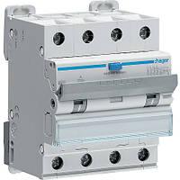 Дифференциальный автомат Hager 6kA тип А х-ка  C 4P 32А 300mA (AFM482C)