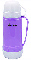 Термос со стеклянной колбой на 450 мл Con Brio CB-355-purple