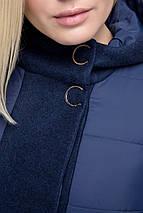 """Женское стильное пальто """"Комби"""", 48 - 62 рр, хаки, фото 2"""