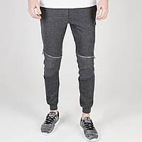 Штаны Fabric Zip Biker Jogging Bottoms Charcoal Marl - Оригинал, фото 1
