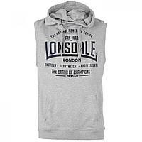 Безрукавка Lonsdale Box Sleeveless Hoody Grey - Оригинал