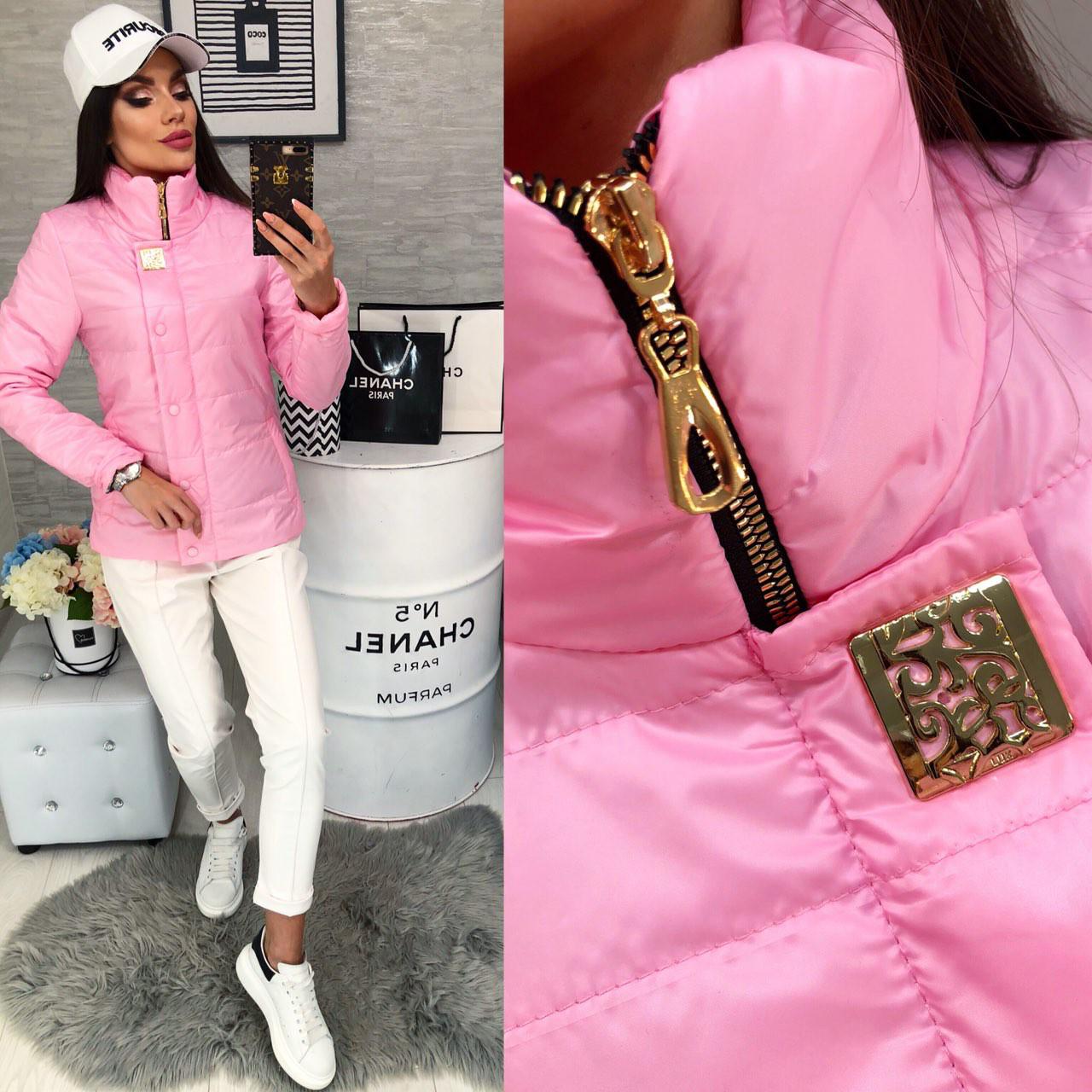 Куртка демисезонная, новинка 2018, модель 211/2, цвет - розовый