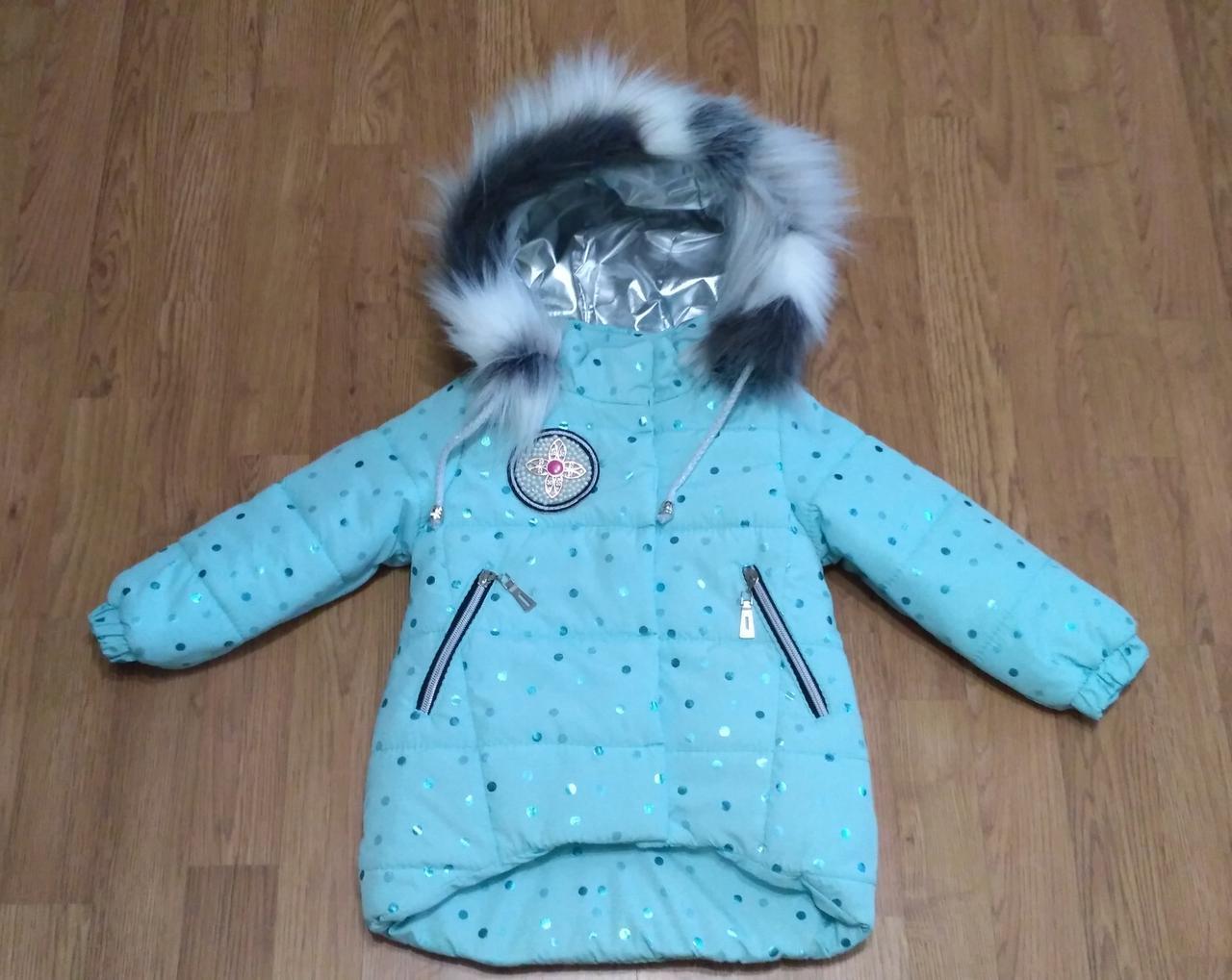 Детская зимняя куртка для девочек.