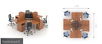 Офисная мебель   Техно-плюс 9 офисный стол , фото 1
