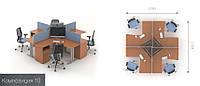 Офисная мебель Техно-плюс 10 офисный стол , фото 1