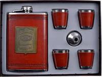 Подарочный набор Jack Daniels (фляга,4 стопки,лейка) AL706