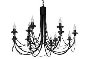 """Кована Люстра """"Парасолька"""" чорна на 12 ламп (Діаметр 1200 мм )"""