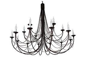 "Кована Люстра ""Парасолька"" коричнева на 18 ламп коричнева"
