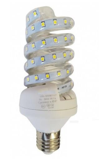 Светодиодная лампа Е27 Спираль 16 Вт нейтральный белый (4200К)