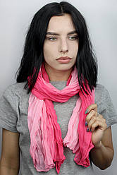 Шарф Косичка переход розовая